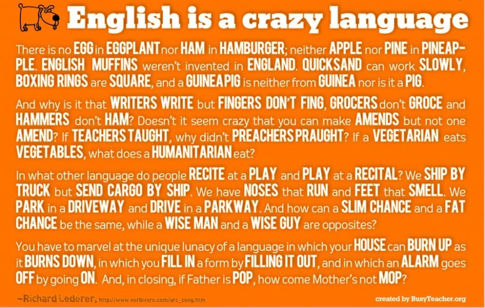 English is a Funny Thing!